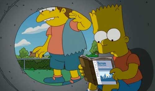 Bart studies Scrum