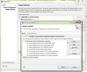 Default Eclipse Target Platform