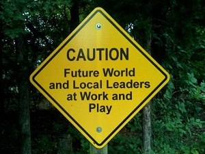 Caution - Leaders at work