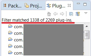 1338 plugins in an Eclipse workspace
